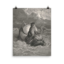 Load image into Gallery viewer, Gustave Doré - The Monkey and the Dolphin