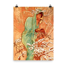 Load image into Gallery viewer, Alphonse Mucha - Four Seasons - Winter