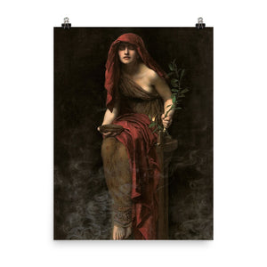 John Collier - The Priestess of Delphi - painting