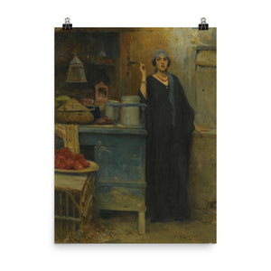 Charles Wilda - Girl by a Market Stall, 1906