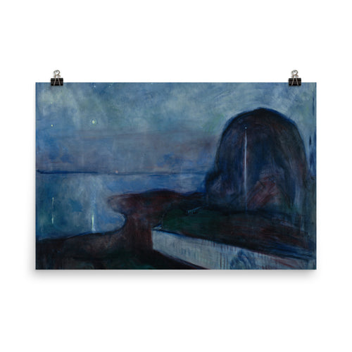 Edvard Munch - Starry Night - painting