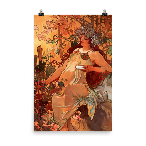 Alphonse Mucha - Four Seasons - Autumn