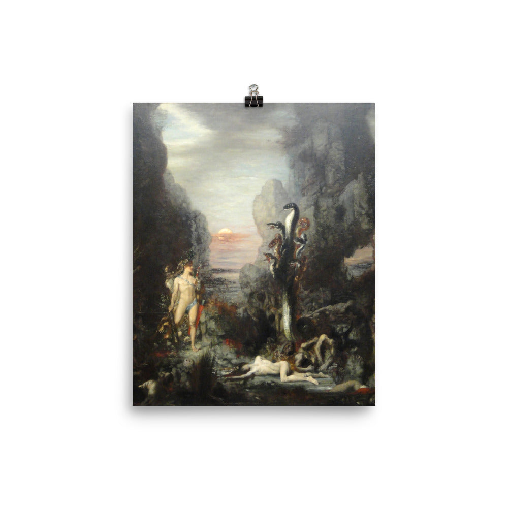 Gustave Moreau - Hercules and the Lernaean Hydra - painting