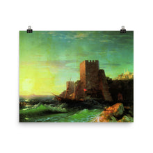 Load image into Gallery viewer, Ivan Aivazovsky - Towers on the rock at the Bosphorus