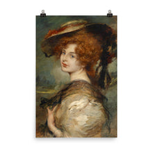 Load image into Gallery viewer, Leopold Schmutzler - Portrait of a lady with red hair and hat