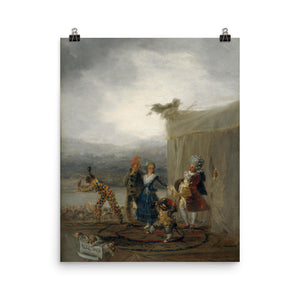 Francisco Goya - The Strolling Players - painting