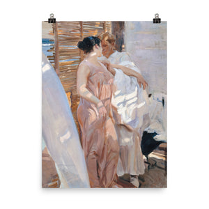 Joaquín Sorolla y Bastida - The Pink Robe. After the Bath