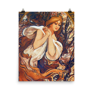 Alphonse Mucha - Four Seasons - Spring