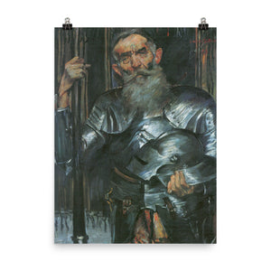 Lovis Corinth - Old man in knight armor