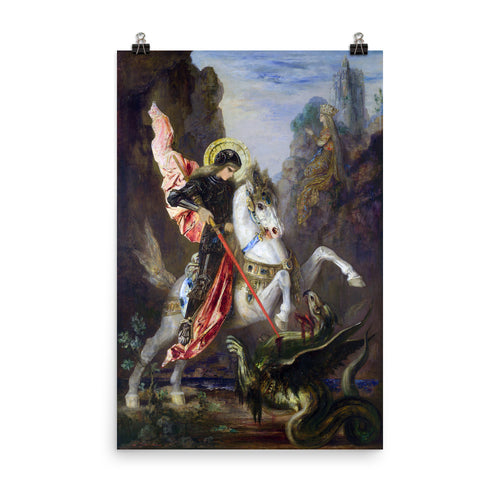Gustave Moreau - Saint George and the Dragon - painting