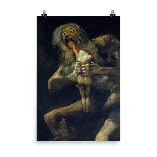 Francisco de Goya - Saturn Devouring His Son, Devoration or Saturn Eats His Child - painting