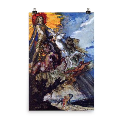 Gustave Moreau - Phoebus and Borea - painting