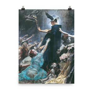 Adolf Hirémy-Hirschl - The Souls of Acheron (Right Panel)