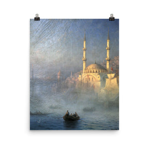 Ivan Aivazovsky - Constantinople the mosque of Top-Kahn