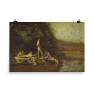 Thomas Eakins - The Swimming Hole (Oil Study)