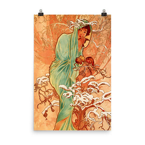 Alphonse Mucha - Four Seasons - Winter
