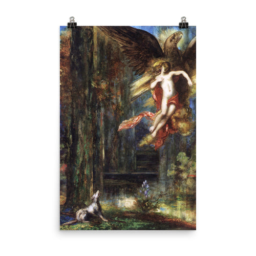Gustave Moreau - The Abduction of Ganymède - painting
