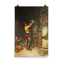 Load image into Gallery viewer, Andrés Parladé - Victorious gladiators offering weapons to guardian Hercules