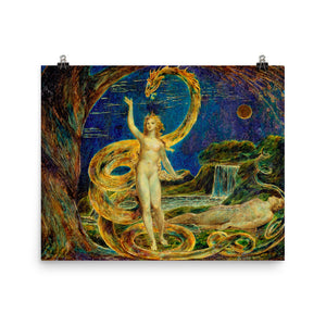 William Blake - Eve Tempted by the Serpent