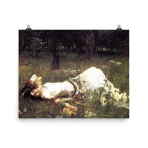 John WIlliam Waterhouse - Ophelia Resting - painting