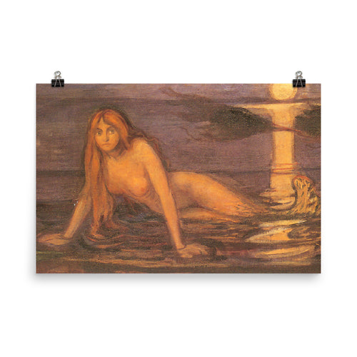Edvard Munch - Lady from the sea - painting