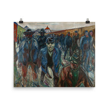 Load image into Gallery viewer, Edvard Munch - Workers on their Way Home - painting