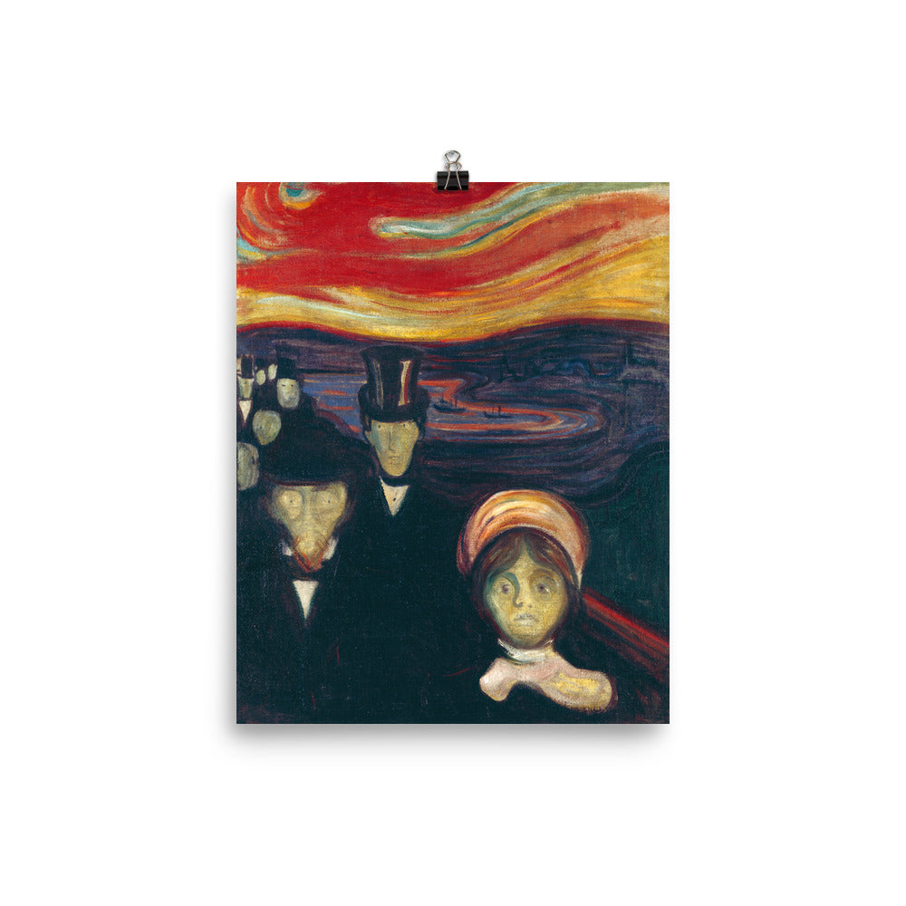 Edvard Munch - Anxiety - painting