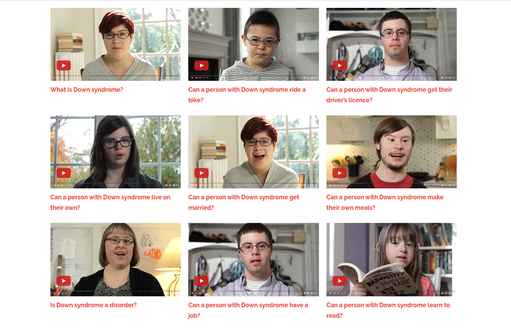 Down Syndrome Answers video project