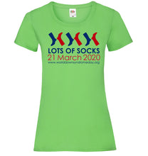 Load image into Gallery viewer, Lots of Socks t-shirt  - Womens