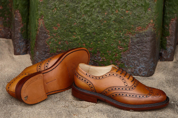 Charles brogue shoes by Barker