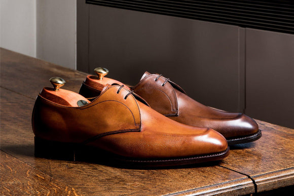 Purley-Derby shoes for men by Barker