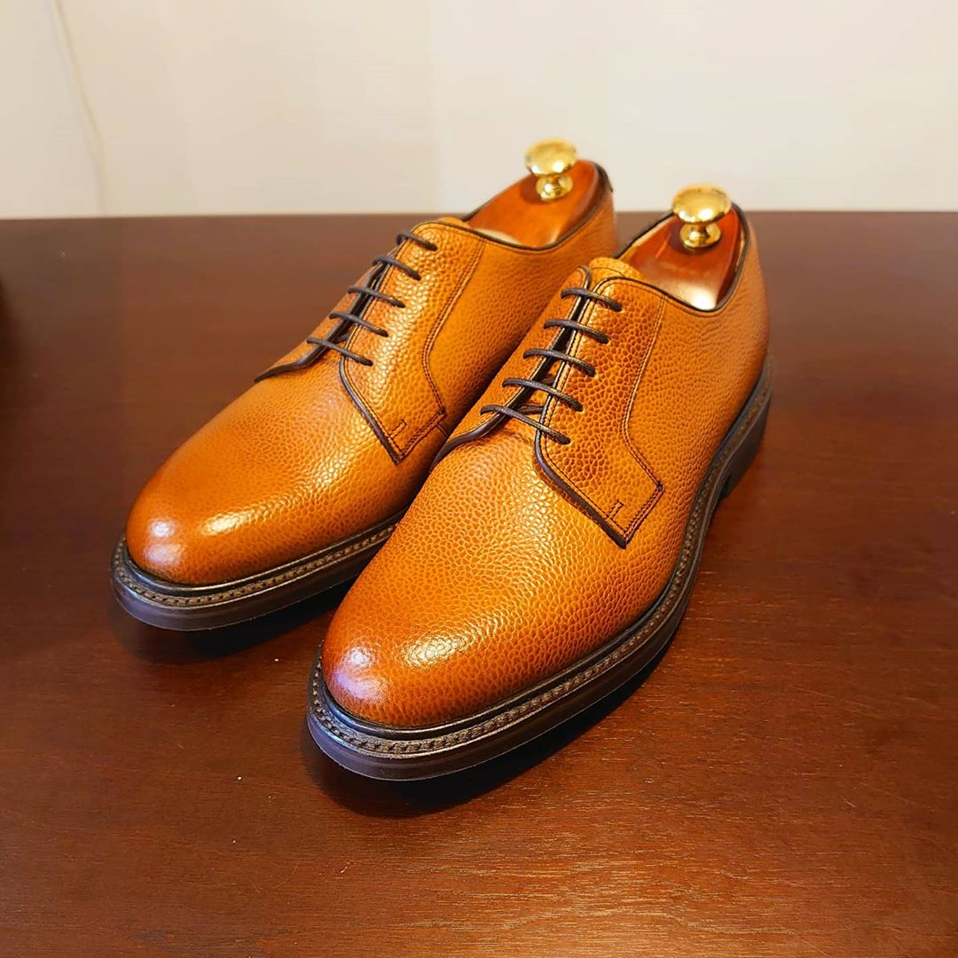 Nairn - Men's Handmade Leather Derby Shoe by Barker