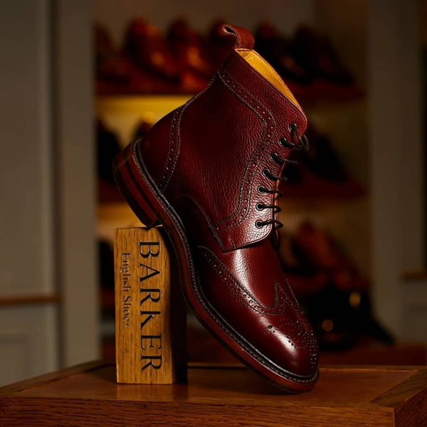 Dress boots or brogue boots by Barker