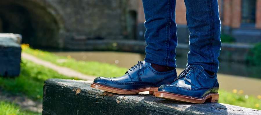 Baily brogue shoes by Barker