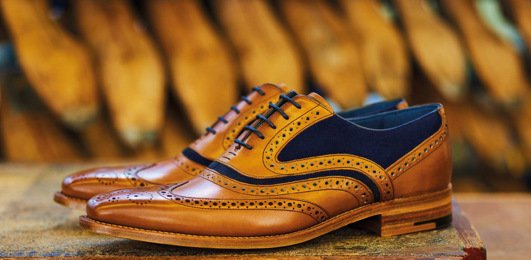 McClean - Men's Handmade Leather Oxford Brogue By Barker