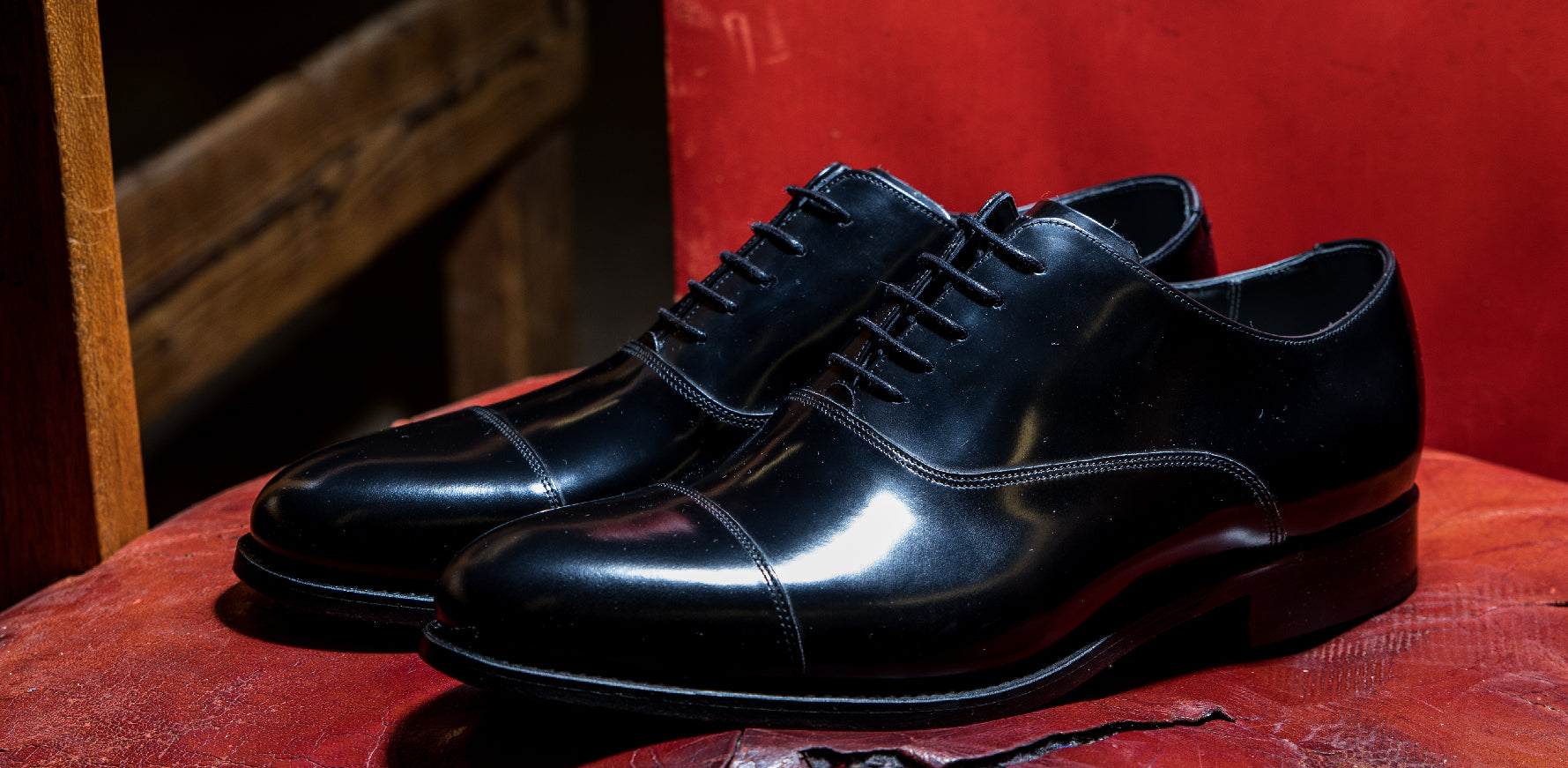 Winsford - Men's Black Leather Oxford Shoes By Barker
