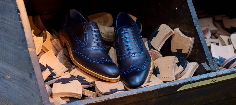 Grant brogue shoes by Barker