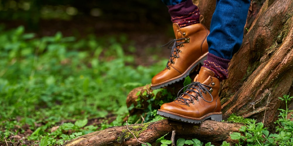 Hiking boots for men by Barker.