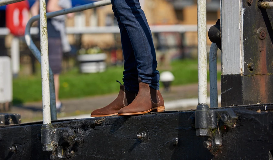 Mansfield Chelsea boots for men by Barker.