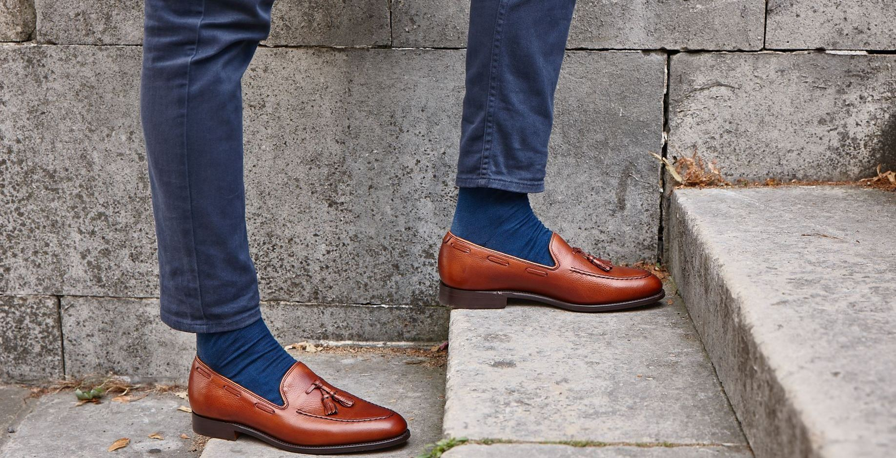 Newborough tassel loafer shoes by Barker.