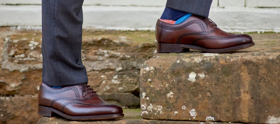 Southport brogue shoes by Barker
