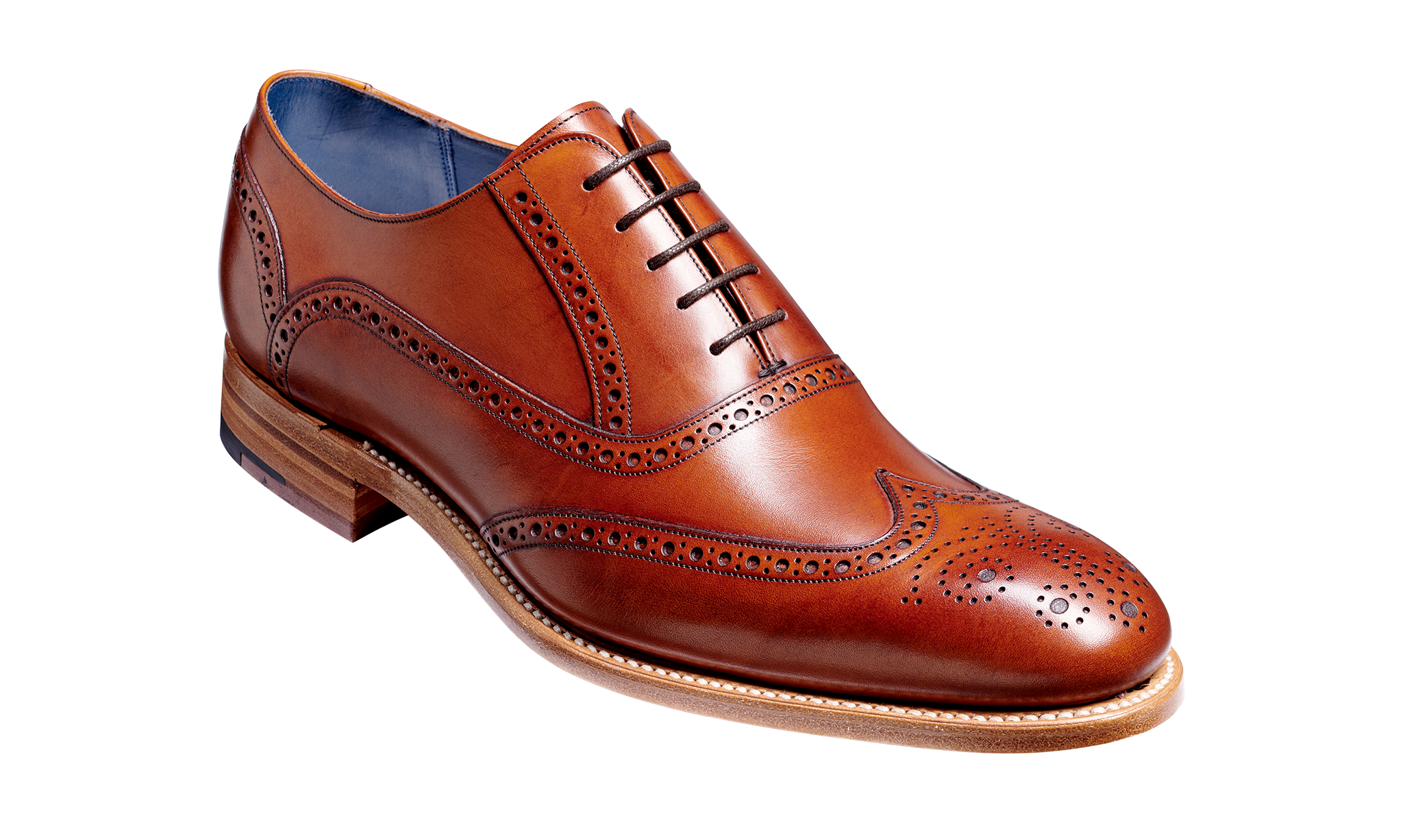 Valiant - Men's rosewood full brogue shoe by Barker