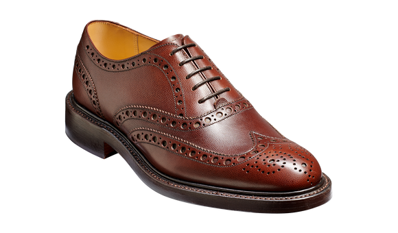 Charles - Brown Fine Grain - Barker Shoes Rest of World