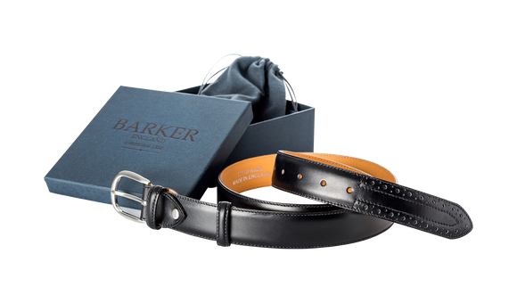 Brogue Belt - Black Calf