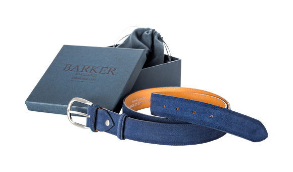 Plain Belt - Blue Suede