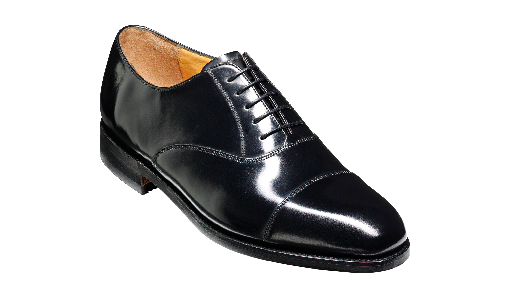 Arnold - Men's black leather oxford shoe
