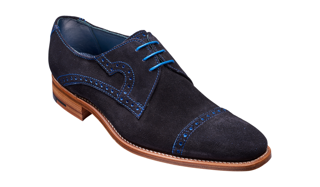 Ashton - Navy Cut Through Suede