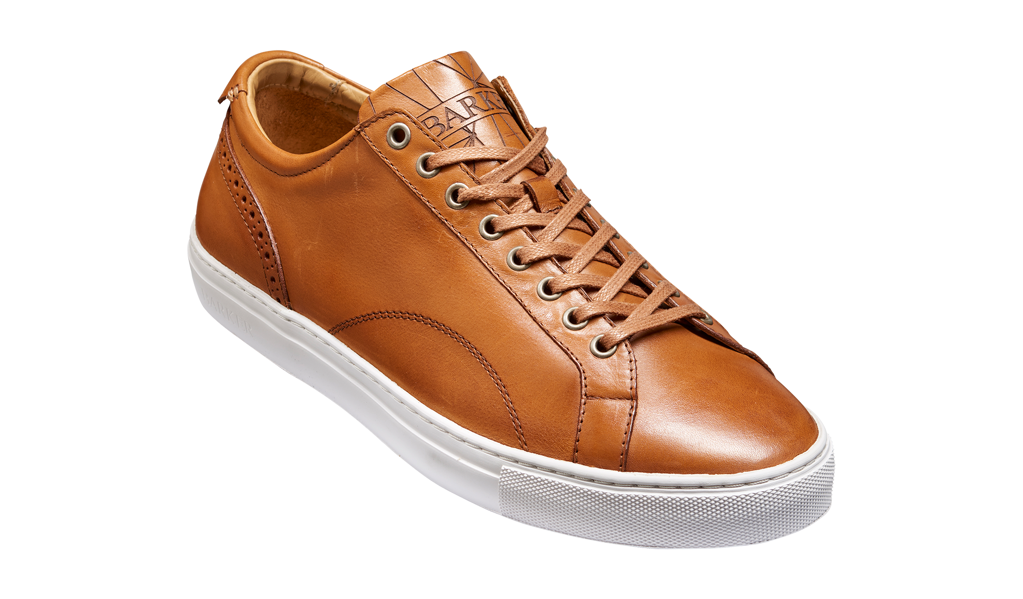 Mens brown sneaker by Barker