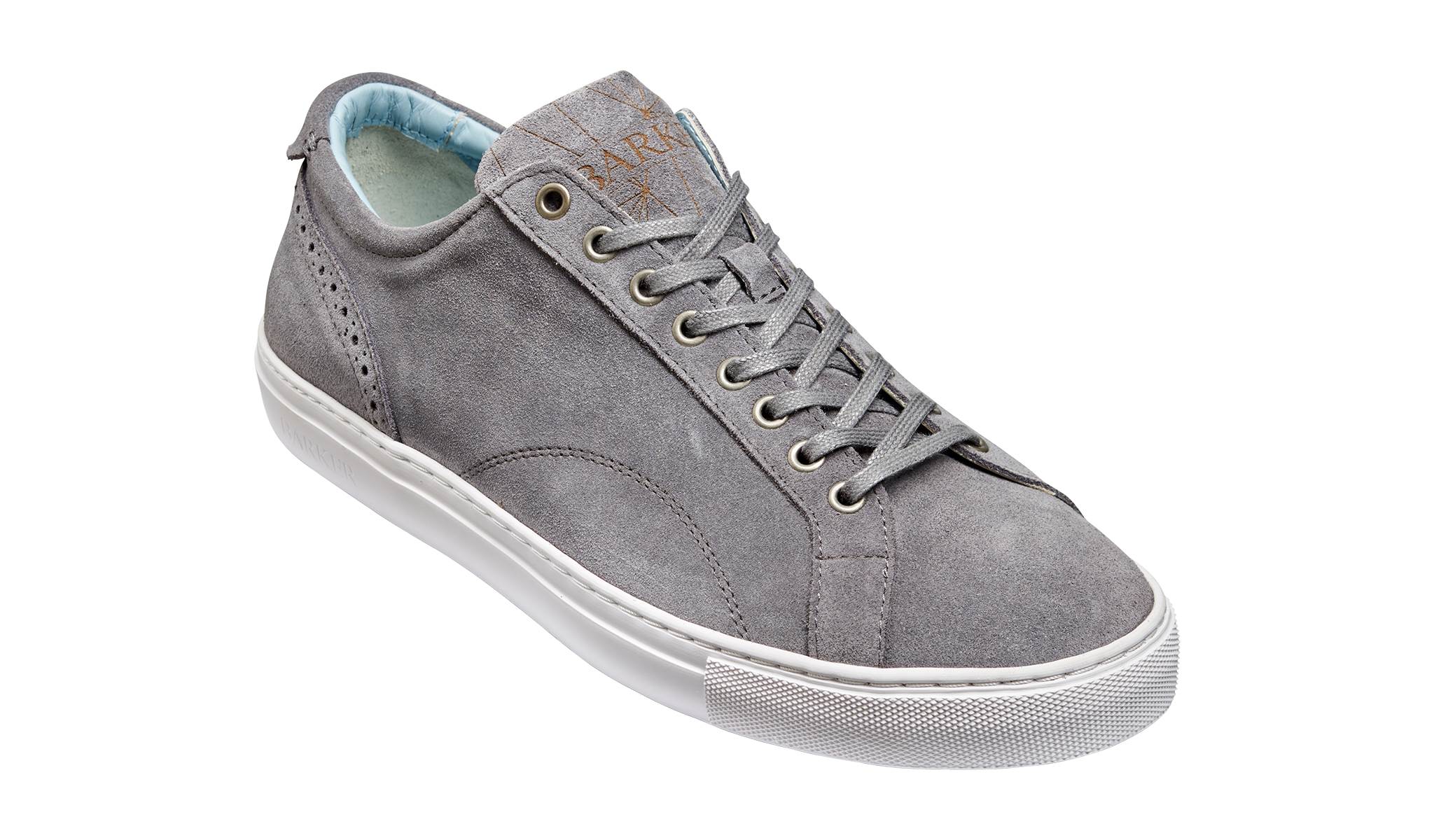 Men's grey suede sneaker by Barker