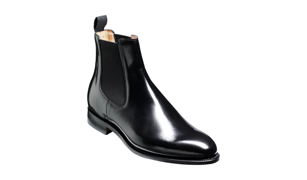Bedale - Black Hi-Shine - Barker Shoes Rest of World